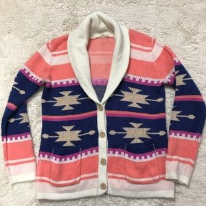 Ellison Aztec Sweater with Wooden buttons